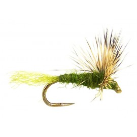 """""""Barbless"""" , Olive Compara Dun 16's"""