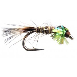 Green Sparkle Hares Ear Nymph 12's