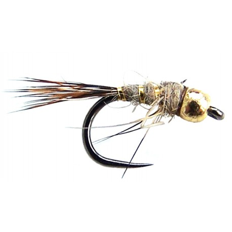 Barbless Goldhead Hares ear Nymph 12's